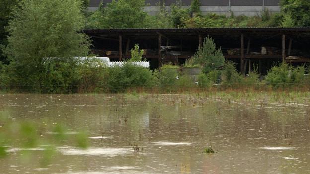 Bild der Überschwemmungen in Unterwindisch 2010.