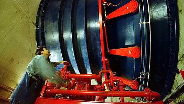 Eine solche Turbine stand am Montag in Gösgen still