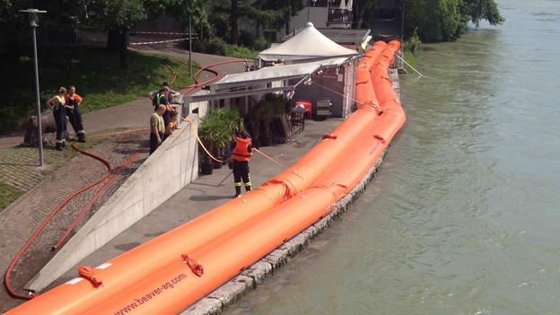 Hochwasserschutz bei Olten.