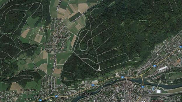 Luftaufnahme von Riniken
