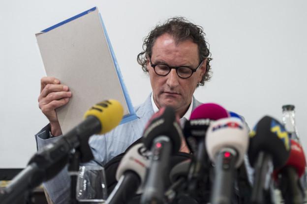 Müller bei der Medienkonferenz.