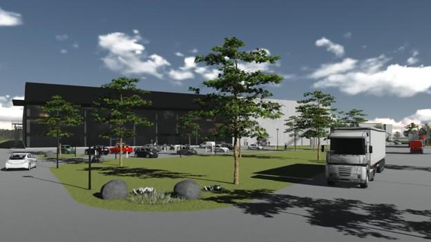So soll das neue Logistikzentrum in Derendingen.