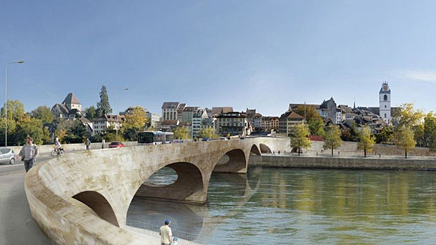 Visualisierung des geplanten Kettenbrücke-Ersatzes «Pont Neuf».
