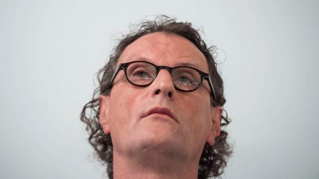Geri Müller an seiner letzten Medienkonferenz in Zürich.