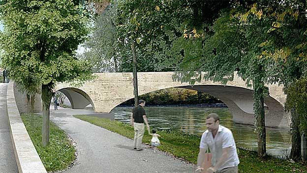 So soll die neue Brücke in Aarau aussehen