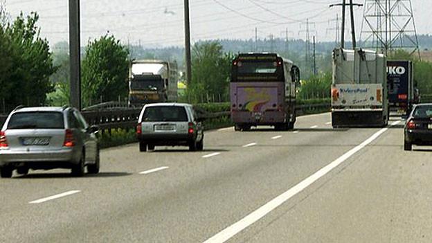 Viel Vekehr auf der A1
