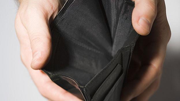 Leere Brieftasche