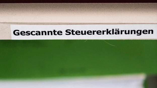 Eine Zürcher Firma scannt die Solothurner Steuererklärungen.