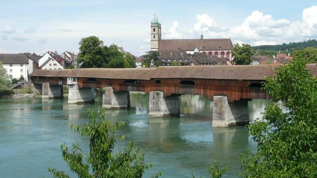 Die Holzbrücke von Bad Säckingen war mit TNT geladen