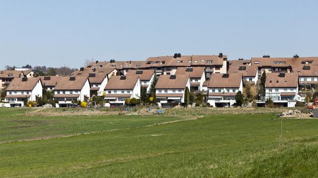 Häuser auf dem Mutschellen.