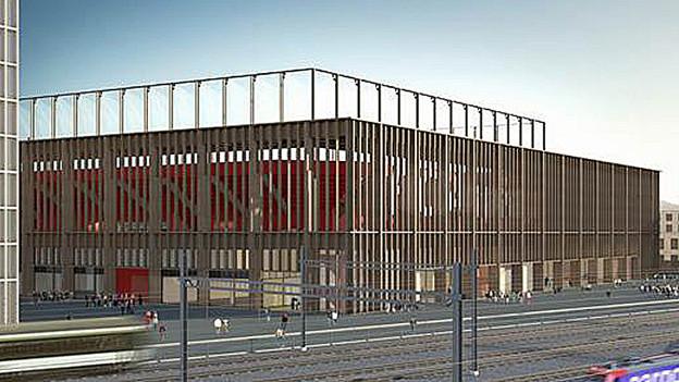 Visualisierung des Stadions Torfeld Süd.
