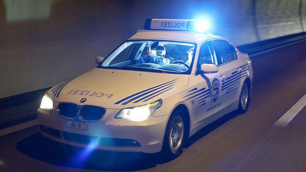 Kantonspolizei Aargau auf Einsatzfahrt