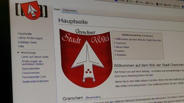 So sieht das Grenchner Stadt-Wiki aus