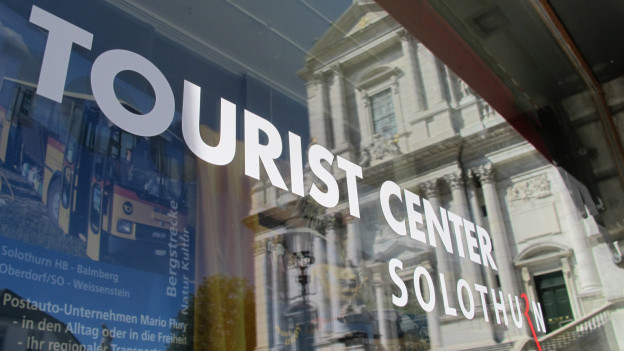 Das Büro der Tourismus Region Solothurn gleich neben der St. Ursenkathedrale.