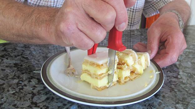 Kann man eine Erfindung, wie den Crèmeschnittenschneider, schützen? Die Recherche ist nun auch in Brugg möglich.