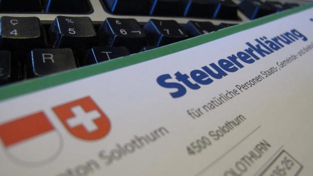 Das Scannen von Steuererklärungen gibt im Kanton Solothurn viel zu reden.