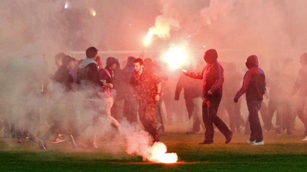 Die Aargauer Polizei befürchtet Krawalle in Aarau beim Spiel FCA-FCZ. Die Gästefans werden nicht zugelassen.