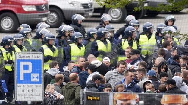 Noch nie gab es ein solches Polizeiaufgebot bei einem Fussballspiel im Aargau.