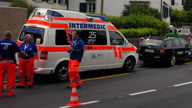 Intermedic im Einsatz an der Tour de Suisse 2013.
