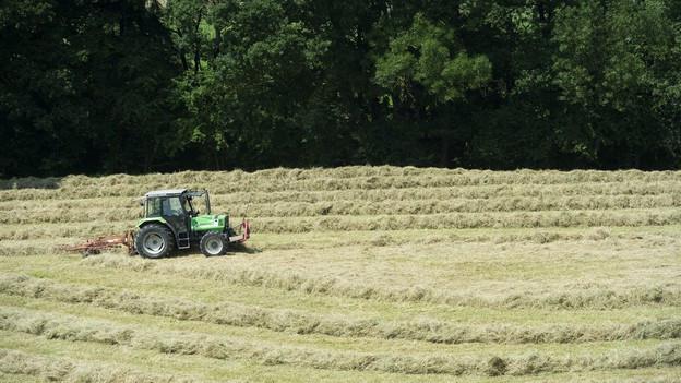 Traktor auf Feld.