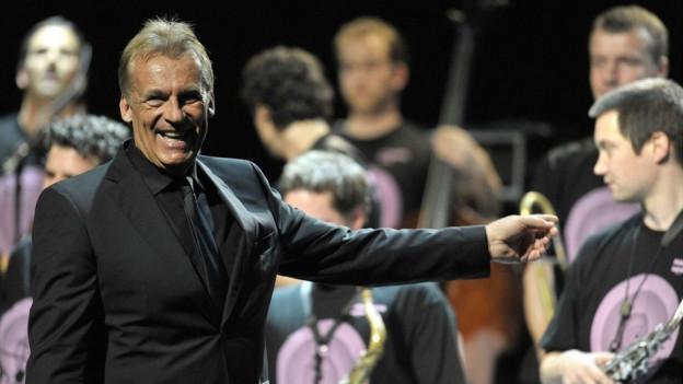Pepe Lienhard am 42. Montreux Jazz Festival 2008 mit der Big Band der Schweizer Armee.