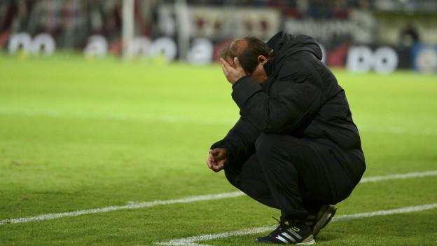 Raimondo Ponte, Trainer des absteigenden FC Aarau.