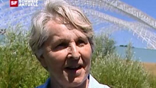 Mit lauter Stimme jahrzehntelang gegen den Sondermüll in Kölliken: Herta Schütz-Vogel.