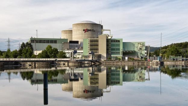 Blick auf das Atomkraftwerk Beznau.