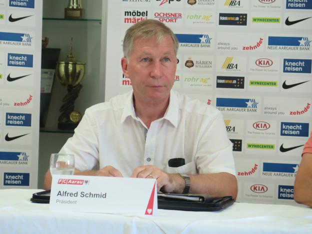 FC Aarau Präsident Alfred Schmid