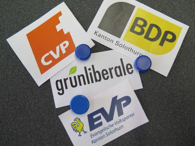 Logo der GLP, BDP, EVP und CVP