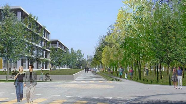 Einer der Vorschläge, wie das künftige Solothurner Stadtquartier dereinst aussehen könnte.
