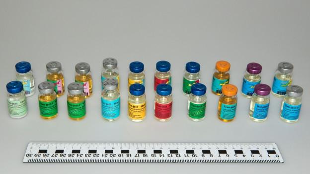 Zu den beschlagnahmten Mittel gehören Anabolika, Wachstumshormone und Potenzmittel.