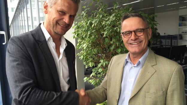 Peter Bernhard (Oper Schenkenberg) und Peter Kofmehl (Solothurn Classcis) gehen gemeinsame Wege.