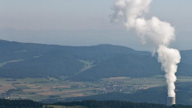 Das AKW Gösgen und sein Umland. Irgendwo im Mittelland wird der Müll entsorgt.