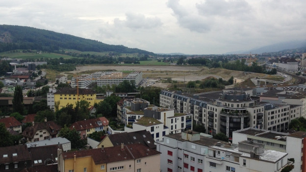 Blick auf den neuen Oltner Stadtteil «Olten Südwest».