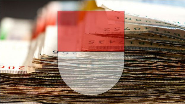 Schweizer Geld mit dem Kantonswappen von Solothurn.