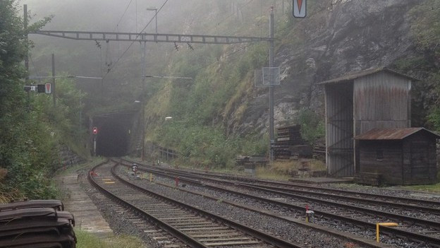 Blick auf den Weissenstein-Tunnel von der Oberdorf-Seite her.