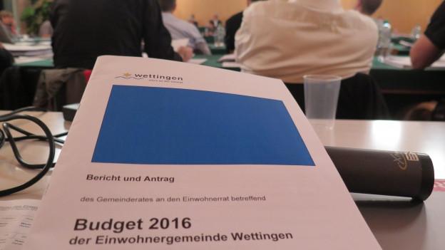 Der Einwohnerrat Wettingen bewilligt das Budget 2016 und belässt die Steuern bei 95 Prozent.