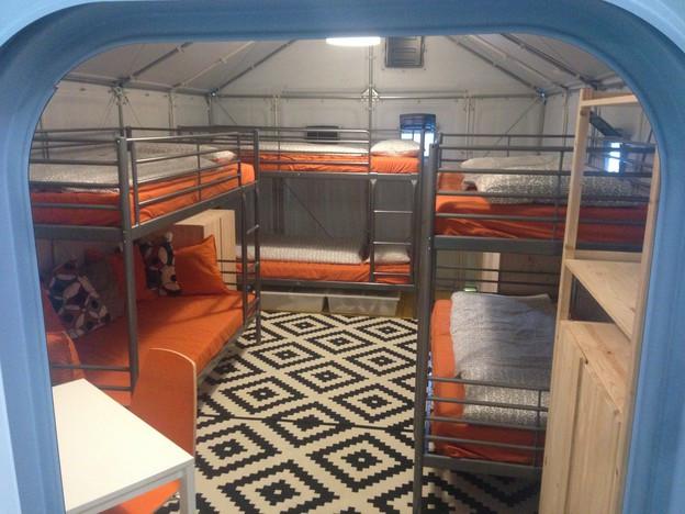 In einem «Shelter» gibt es Platz für bis zu sechs Asylsuchende.