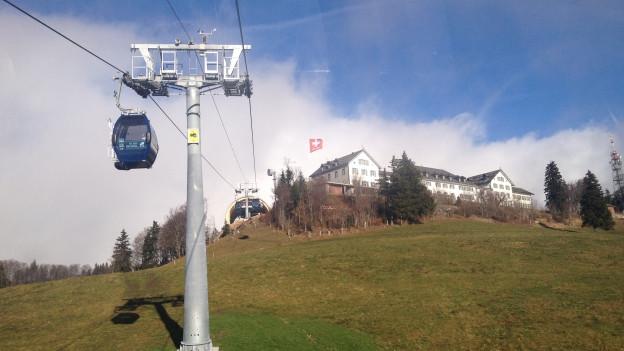 Beliebtes Ausflugsziel: Wegen des schönen Herbstwetters verzeichnete die Weissensteinbahn am Sonntag einen Rekord.