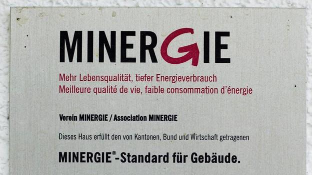 Minergie-Schild
