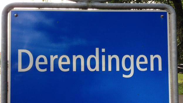 Ortsschild von Derendingen.