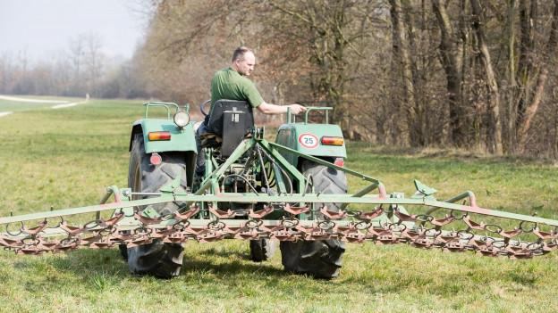 Wegen der intensiven Landwirtschaft hat es viel Nitrat im Boden.