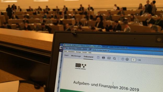 Der Aufgaben- und Finanzplan 2016-2019 stand im Zentrum der Grossratsdebatte vom Dienstag.