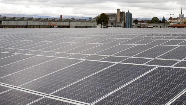 Bald auch in Hunzenschwil: Eine Solaranlage soll auf das Dach des neuen Oberstufenschulhauses kommen.