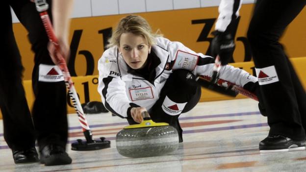 Silvana Tirinzoni an der Curling Frauen WM 2013 in Riga.