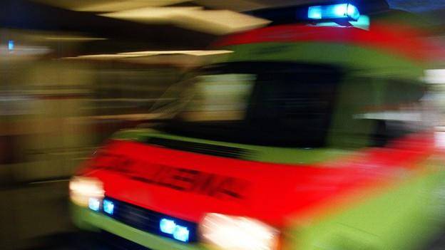 Ambulanz in voller Fahrt