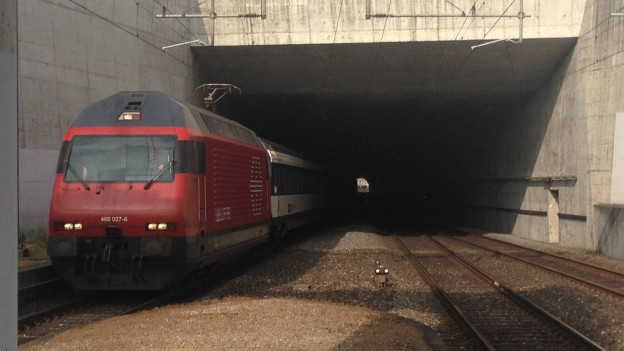Zwischen Aarau und Schönenwerd wurde ein zusätzliches Gleis verlegt.