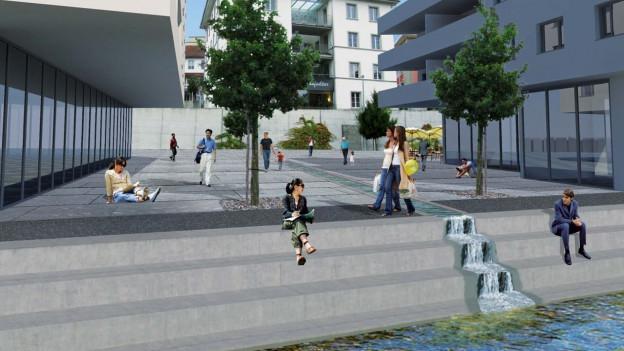 In etwa so könnte das Islerareal in Wohlen dereinst aussehen, wenn es nach dem Willen der Gemeinde geht.
