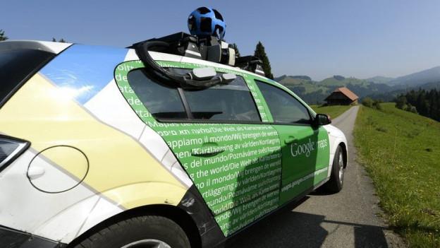 In Veltheim nicht gerne gesehen: Das Aufnahmeauto von Google Street View.